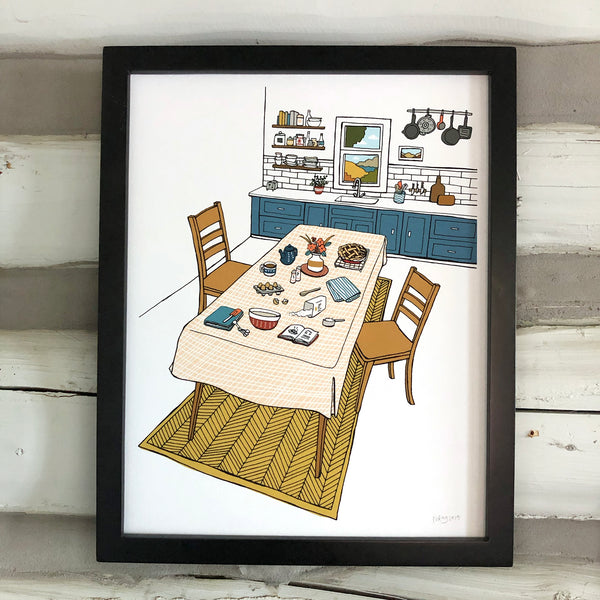 Kitchen Scene Print