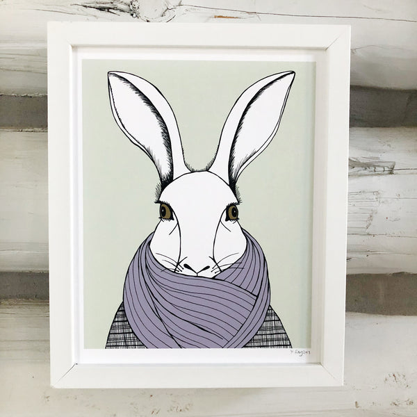 Bundled Up Bunny Print