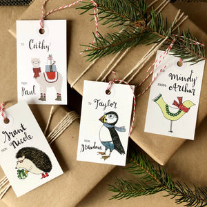 Assorted Animals Holiday Gift Tag Set