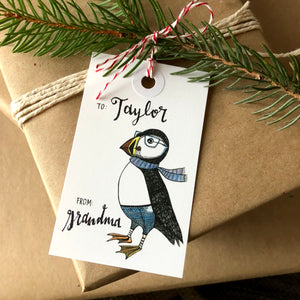 Puffin Holiday Gift Tag Set