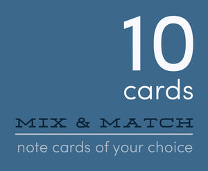 Mix and Match 10 Greeting Cards of Your Choice