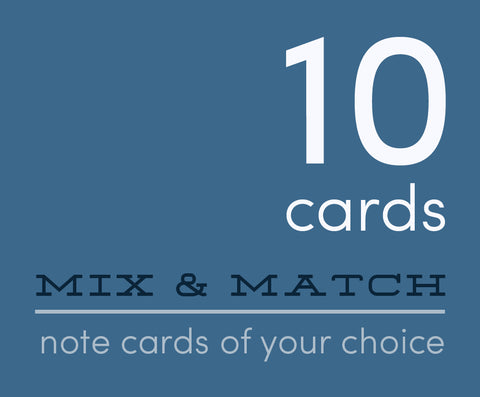 Mix and Match 10 Greeting Cards You Choose