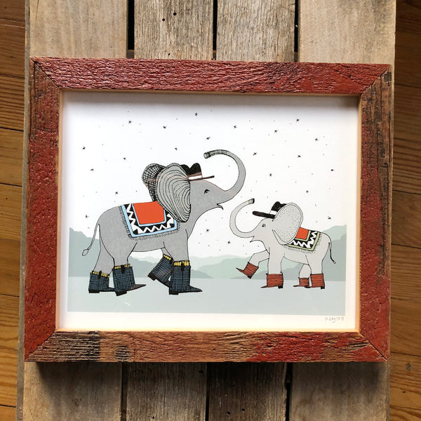 Elephants Dancing Print