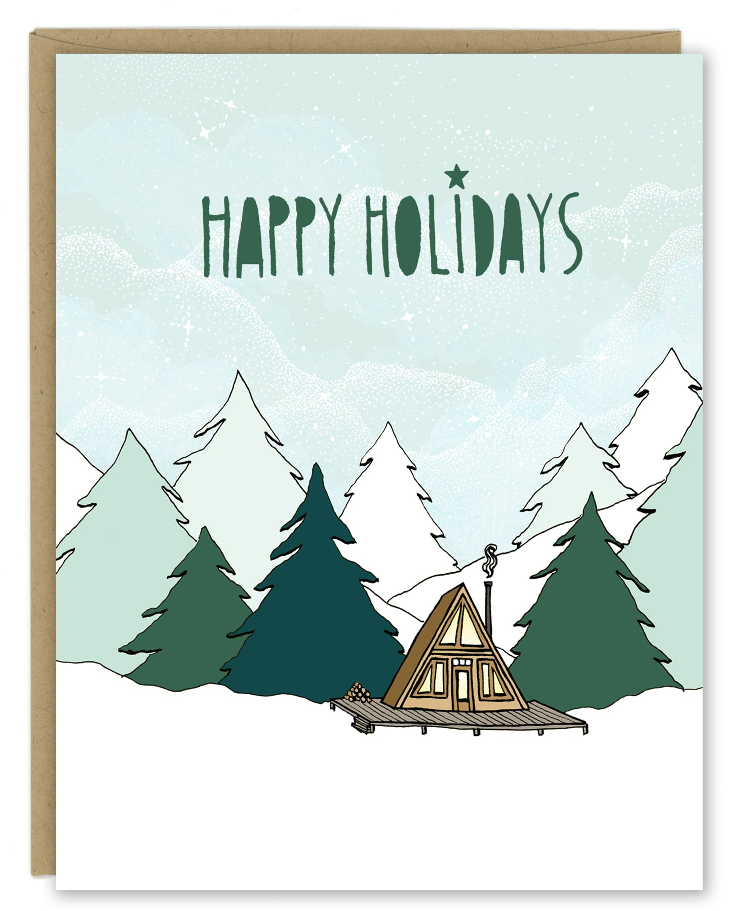 A-frame Holiday Card — Boxed Sets or Singles