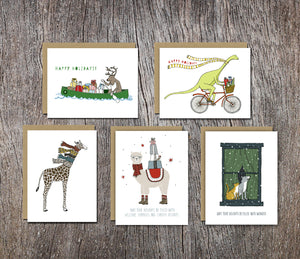 Assorted Animal Holiday Card Set — Boxed Sets of Ten