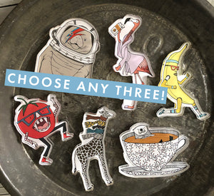 Refrigerator Magnets: Choose Three