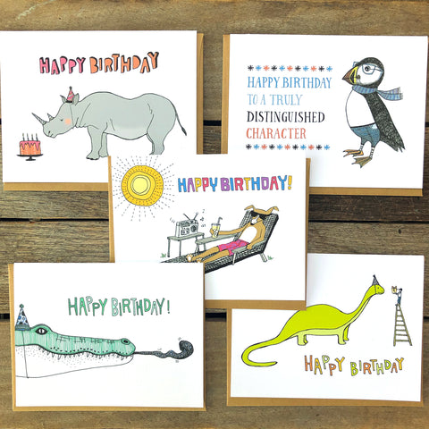 Birthday Card Bundle of Five