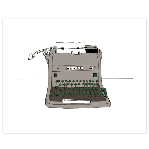 HH Royal Typewriter Print