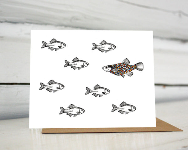 A Fish of a Different Color Greeting Card
