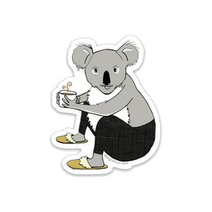 Caffeinated Koala Vinyl Sticker