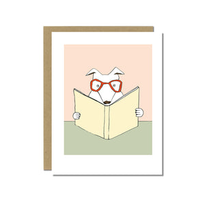 Rex the Reading Dog Greeting Card