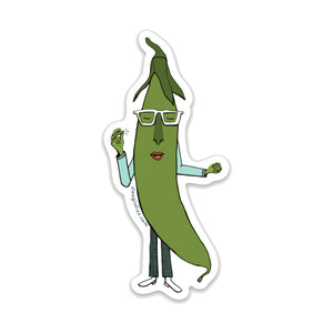 Snap Pea Groovin' Vinyl Sticker