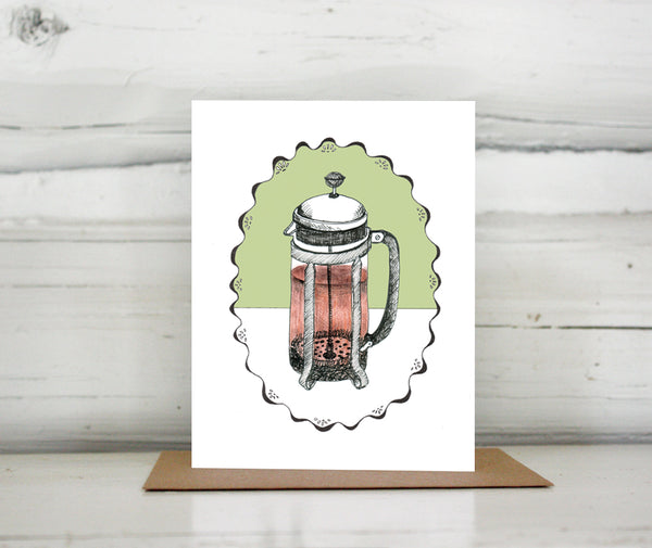 French Press Greeting Card