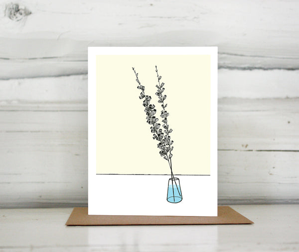 Salvia Flower Greeting Card