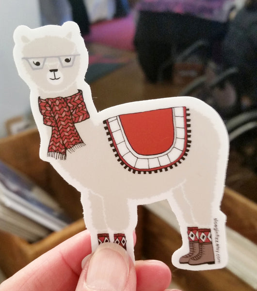 Arlo the Alpaca Vinyl Sticker