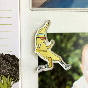 Banana on the Run Refrigerator Magnet