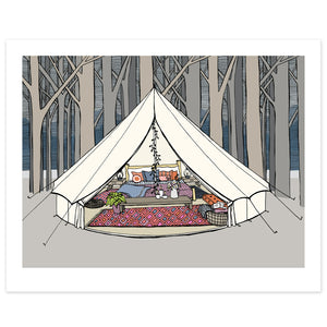 Bell Tent Glamping Print