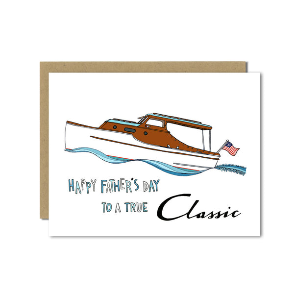 Chris Craft Boat Father's Day greeting card