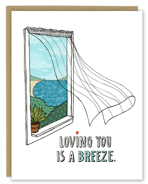 Loving You is a Breeze Greeting Card