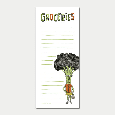 Broccoli Grocery List Notepad