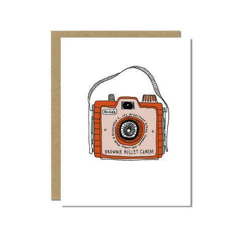 Brownie Bullet Camera Greeting Card