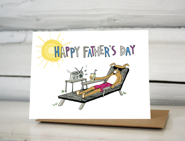 Happy Father's Day Dog Lounger card
