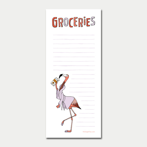 Flamingo Grocery List Notepad