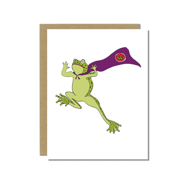 Super Frog Greeting Card
