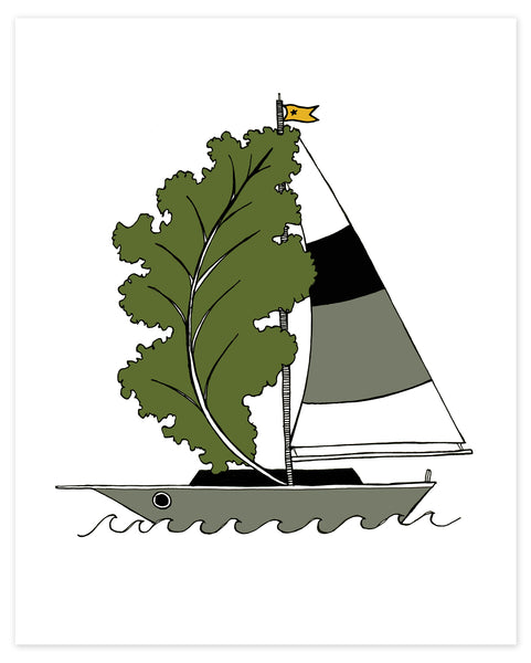 Kale Force Winds Kaleboat Print