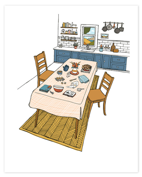 Autumn Kitchen Scene Print