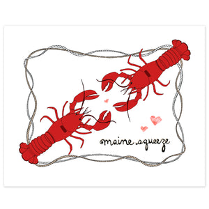 Lobster Maine Squeeze Print