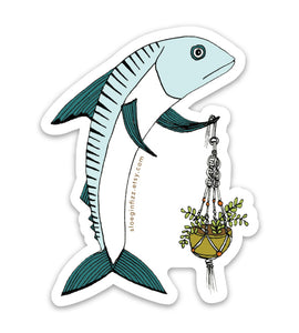 Mackerel Mastering Macrame Vinyl Sticker
