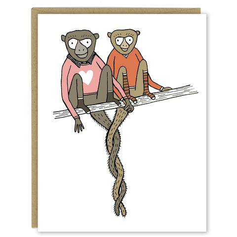 Monkey Love Greeting Card