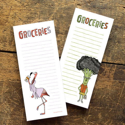 You Pick: Set of Two Grocery List Notepads