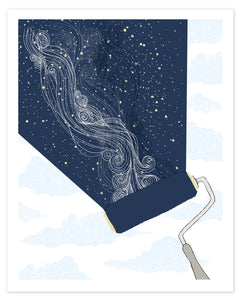 Constellation Milky Way Paint Roller Print