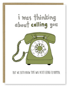 Phone Call Greeting Card