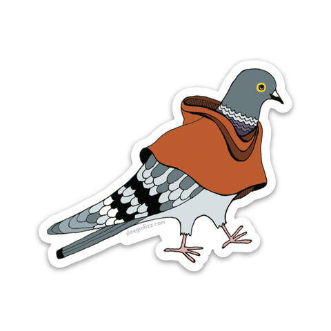 Pigeon in a Poncho Vinyl Sticker