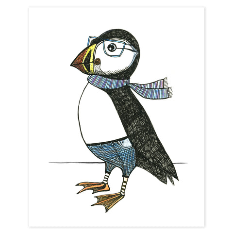 Distinguished Puffin Print