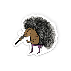 Punk Rock Porcupine Vinyl Sticker