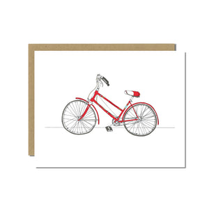 Vintage Schwinn Bicycle Greeting Card