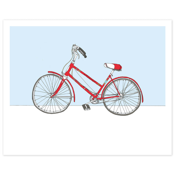 Red Schwinn Bicycle Print