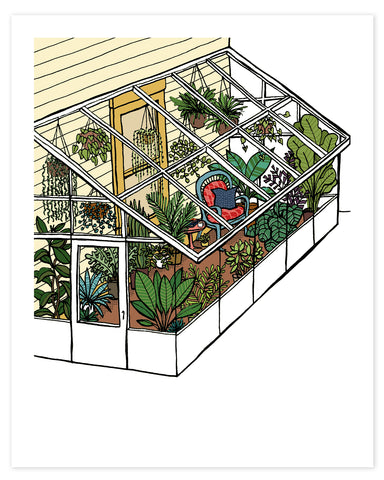 Quiet Morning in the Garden Room Print