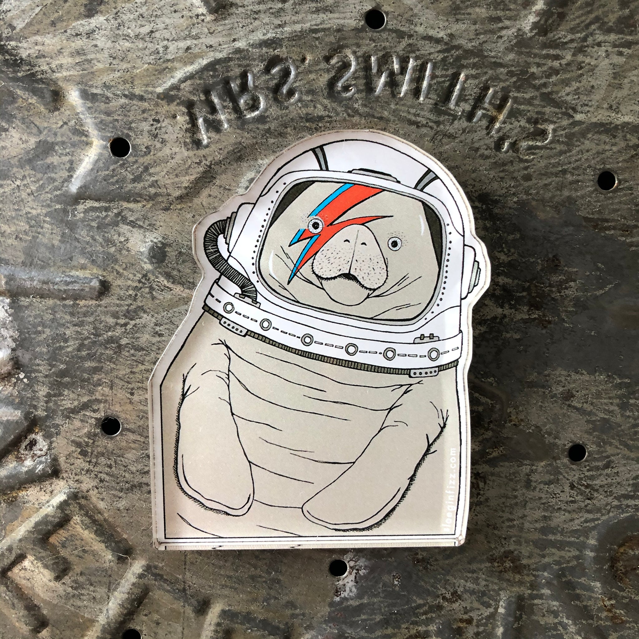 Space Manatee Refrigerator Magnet