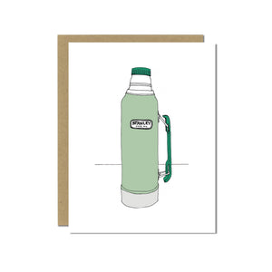 Stanley Thermos Greeting Card