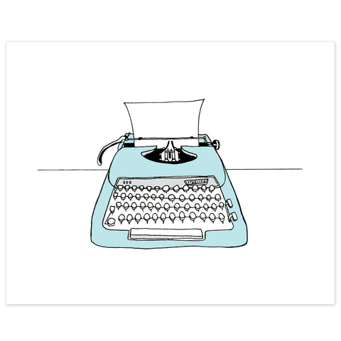 Sterling Typewriter Print