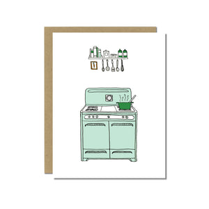 Vintage Stove Greeting Card