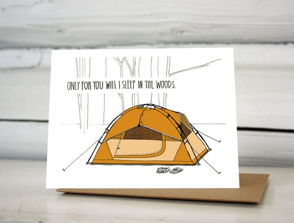 Tent Camping Love Greeting Card