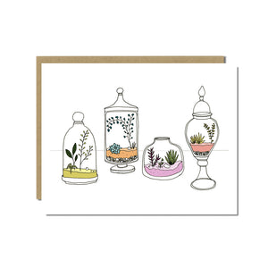 Terrariums Greeting Card