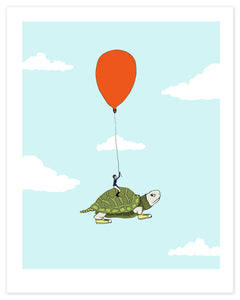 Turtle Flight Print