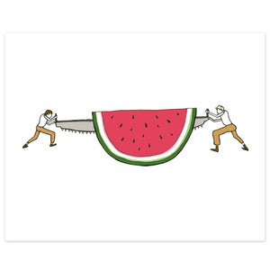 Giant Watermelon Print